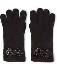 Forever 21 Beaded Cluster Knit Gloves - Lyst