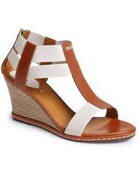 Fendi 'Carioca' Wedge Sandal - Lyst