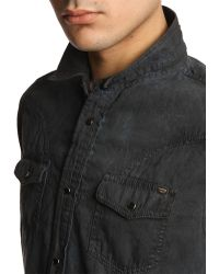 Diesel Sodera Blue Denim Shirt - Lyst