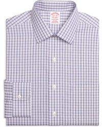 Brooks Brothers Non-Iron Regent Fit Hairline Check Dress Shirt - Lyst