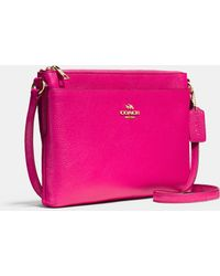 COACH | Journal Crossbody In Pebble Leather | Lyst