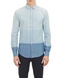 Band of Outsiders Dip-Dye Shirt - Lyst
