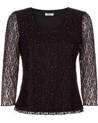 Precis Petite Purple Bubble Lace Top - Lyst