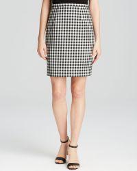 Diane von Furstenberg Pencil Skirt - Eliza Gingham - Lyst