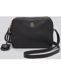 Tory Burch Crossbody  Robinson Pebbled Double Zip - Lyst