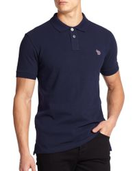 Paul Smith Regular-Fit Cotton Polo blue - Lyst