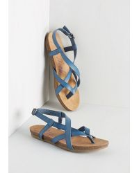Blowfish Llc Everyday Nonchalance Sandal In Blue - Lyst