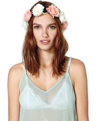 Nasty Gal Heads Up Rose Crown - Lyst