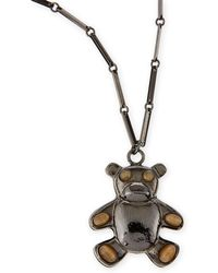 Tuleste - Bear Pendant Necklace - Lyst