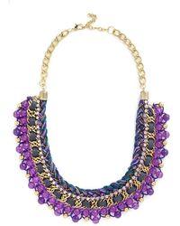 Zad Fashion Inc. - Bead Still My Heart Necklace In Purple - Lyst