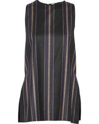 Adam Lippes Striped Wool-Blend Top - Lyst