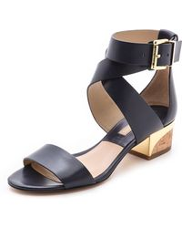 Michael Kors Collection Tulia Block Heel Sandals - Lyst