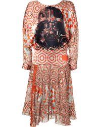 Preen Silk Blend Darth Vader Dress - Lyst