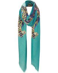 Mary Katrantzou Scarf Corona Turquoise - Lyst