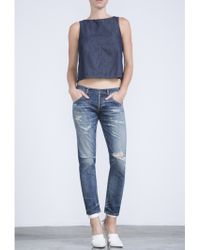 Citizens of Humanity Citizens Of Himanity Emerson Slim Boyfriend In Rip It Up - Lyst