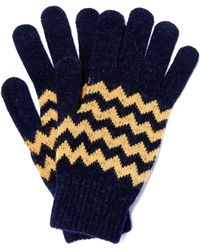 Howlin' By Morrison - Navy Zion Zig Zag Wool Gloves - Lyst