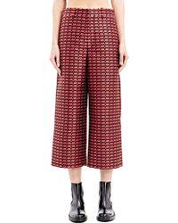 Sonia Rykiel Womens Jacquard Wide Leg Pants - Lyst