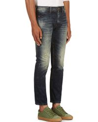 Diesel Blue Faded and Distressed Chi_dee_d Jeans - Lyst