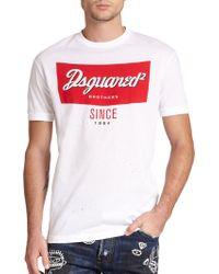 DSquared² Graphic Cotton Tee - Lyst