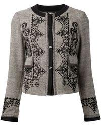 Etro Embroidered Tweed Jacket - Lyst