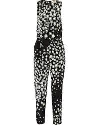Sea Leo Printed Stretch-silk Jumpsuit - Lyst
