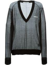 Givenchy Sheer V-Neck Jumper - Lyst