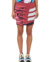 Mary Katrantzou Abstract-print Mini Skirt - Lyst