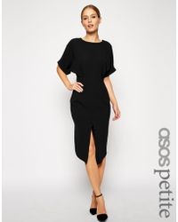 Asos Wiggle Dress with Wrap Back and Split Front - Lyst