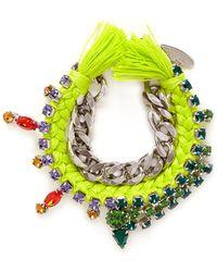 Joomi Lim - Cotton Braid Crystal Bracelet - Lyst