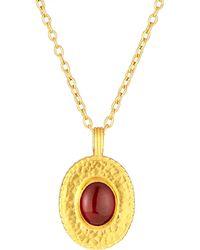 Gurhan Hammered Pendant Necklace - Lyst