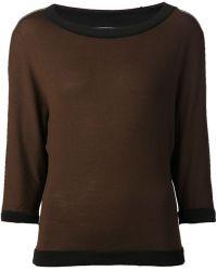 Emanuel Ungaro Contrasting Sweater - Lyst