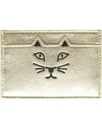 Charlotte Olympia 'Feline' Card Holder - Lyst