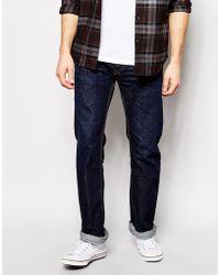 Diesel Jeans New Fanker Slim Bootcut Fit 823K Dark Wash - Lyst