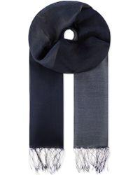 Issey Miyake Pleated Silk Scarf - Lyst