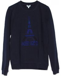 KENZO - Blue Eiffel Tower Sweatshirt - Lyst