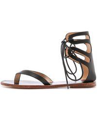 Matiko - Eldora Lace Up Gladiator Sandals - Black - Lyst