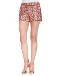 Trina Turk Dot Jacquard Short Shorts - Lyst