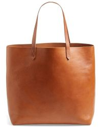 Madewell Women'S 'The Transport' Leather Tote - Brown - Lyst