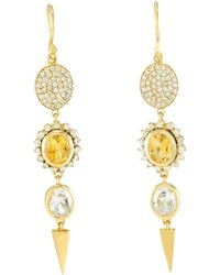 Melinda Maria - Harper Drop Earrings - Lyst