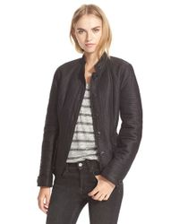bbbc8c60ab1c Burberry Brit - 'tiggsmoore' Quilted Stand Collar Jacket - Lyst
