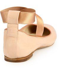 Chloé Leather Ballet Flats - Lyst