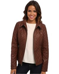 Jessica Simpson Brown Jofmu528 Jacker - Lyst