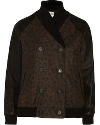 Sea Leopard-print Wool-blend Jacket - Lyst
