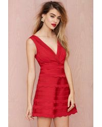 Nasty Gal Secret Love Bandage Dress - Lyst