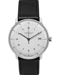 Junghans Max Bill Stainless Steel and Leather Automatic Watch - Lyst
