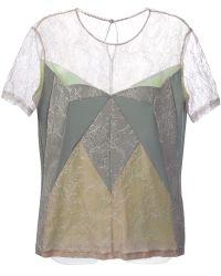 Anne Valerie Hash - Panelled Tshirt - Lyst