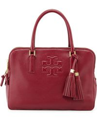 Tory Burch Thea Triple-zip Leather Tote Bag - Lyst