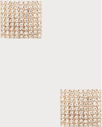 Bebe - Square Pave Earrings - Lyst