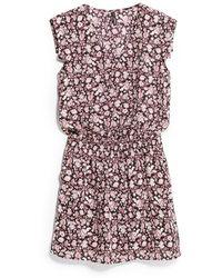 Mango Flowy Printed Dress - Lyst