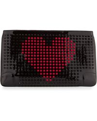 Christian Louboutin Loubiposh Valentines Spike Clutch - Lyst